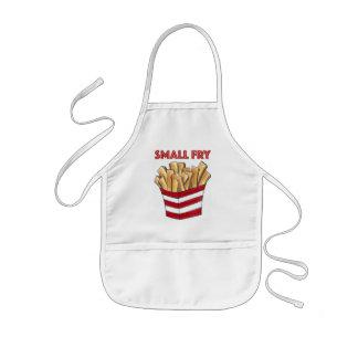 Tablier d'enfant de fin gourmet de pommes frites