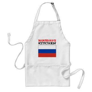 Tablier Drapeau de Russe de la cuisine de Babushka