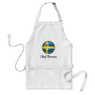 Tablier Drapeau suédois de sourire