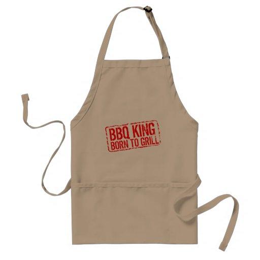 Tablier drôle de BBQ pour les hommes | né pour gri