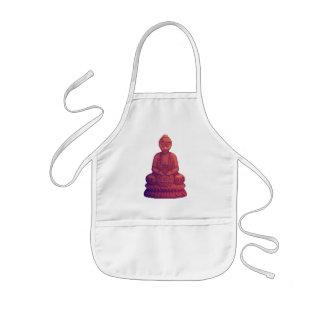 Tablier Enfant Art de pixel de Bouddha de coucher du soleil