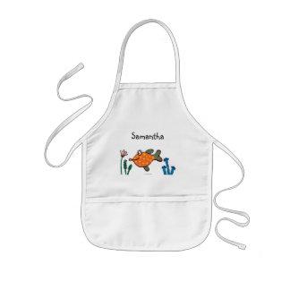 Tablier Enfant Baisers de poissons de maman et de bébé