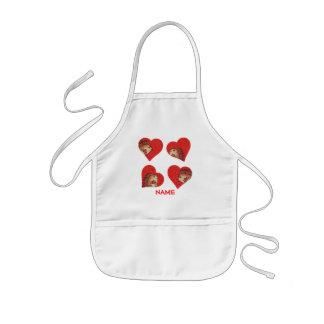 Tablier Enfant Chemise de peinture de coeurs de hérisson !