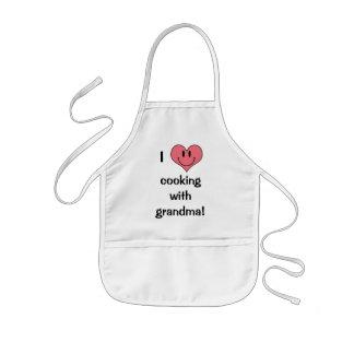 Tablier Enfant J'aime faire cuire avec la grand-maman ! Coeur
