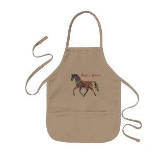 Tablier Enfant Joli et coloré cheval d'arc-en-ciel