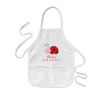 Tablier Enfant La petite coccinelle rouge personnalisée badine le