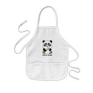 Tablier Enfant Le végétalien mignon de panda de bébé badine le