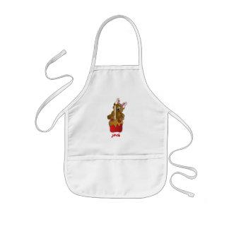 Tablier Enfant Ours de lapin d'Apple de bonbon au caramel