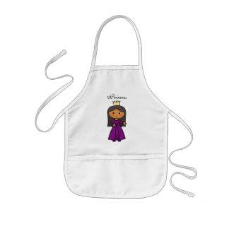 Tablier Enfant Princesse mignonne de clipart (images graphiques)