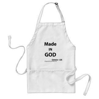 Tablier Fait dans la citation de bible de Dieu