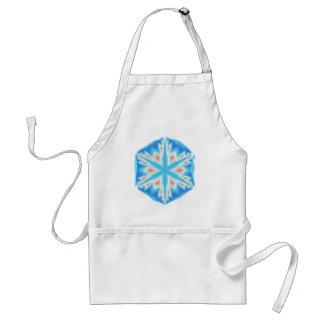 Tablier Flocon de neige en cristal bleu