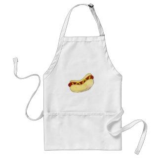 Tablier Gril de moutarde de hot-dog grillant la nourriture