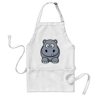 Tablier Hippopotame drôle