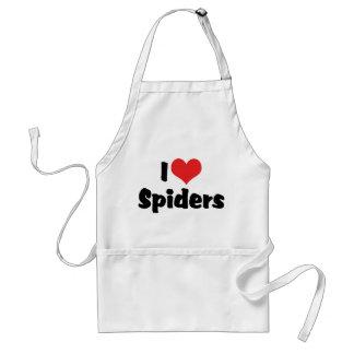 Tablier J'aime des araignées de coeur