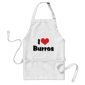 Tablier J'aime des Burros de coeur