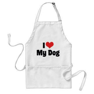 Tablier J'aime le coeur mon chien - amoureux des chiens