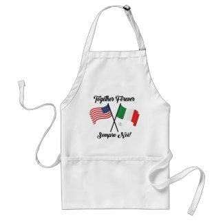 Tablier la vie italienne de nourriture d'amour de famille