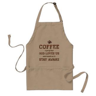 Tablier Le café est preuve que Dieu nous aime