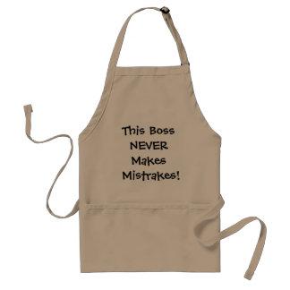 Tablier Le patron ne fait jamais Mistrakes ! Citation
