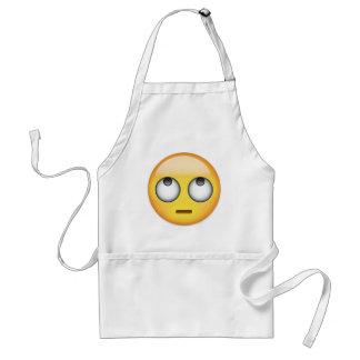 Tablier Le visage avec le roulement observe Emoji