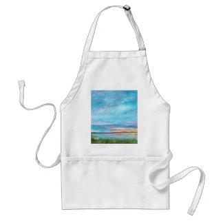 Tablier Lever de soleil de plage de bord de la mer d'art