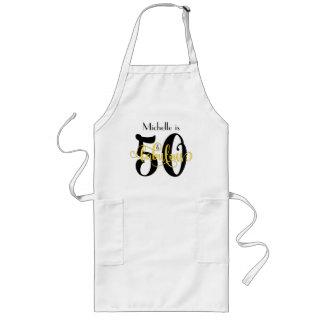 Tablier Long 50 et anniversaire noir et jaune fabuleux de