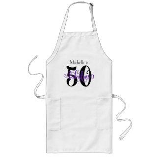 Tablier Long 50 et anniversaire noir et pourpre fabuleux de