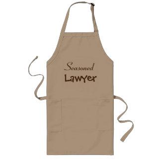 Tablier Long Idée chevronnée de cadeau de retraite d'avocat -