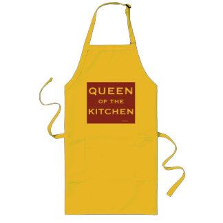Tablier Long Reine nommée drôle de cuisinier féminin de chef de