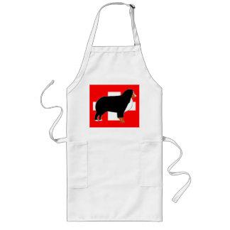 Tablier Long silhouette de chien de montagne bernese sur la