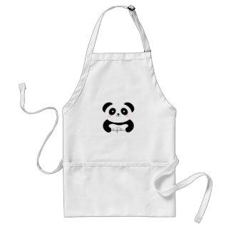 Tablier Monogramme Girly mignon d'ours panda de bébé