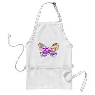 Tablier Nuage élégant inspiré d'étiquette de papillon