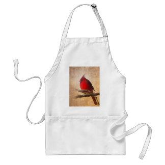 Tablier Peinture cardinale rouge