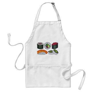 Tablier Petit pain de sushi japonais de cuisine de cuisine