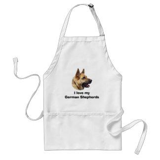 Tablier Portrait alsacien de chien de berger allemand