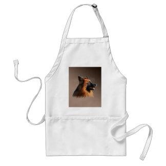 Tablier Portrait d'art d'aquarelle de chien de berger