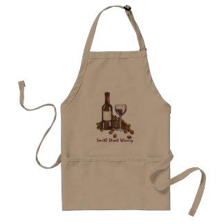Tablier Raisins de bouteille en verre de vin rouge de