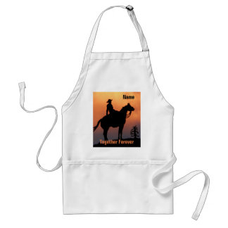 Tablier Silhouette de cheval et de coucher du soleil de