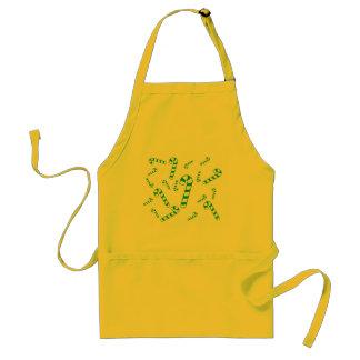 Tablier - sucres de canne verts avec des rayures
