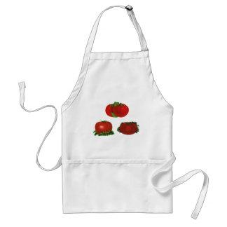 Tablier Tomates mûres rouges vintages nourriture, fruits,
