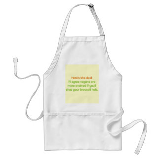 Tablier Trou de brocoli fermé par végétalien