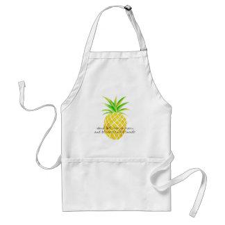 Tablier Usage grand de support d'aquarelle d'ananas un