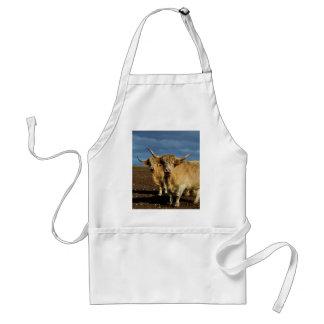 Tablier Vaches des montagnes fauves,
