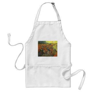 Tablier Vignoble rouge par art vintage d'impressionisme de