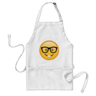 Tablier Visage Geeky de smiley d'Emoji
