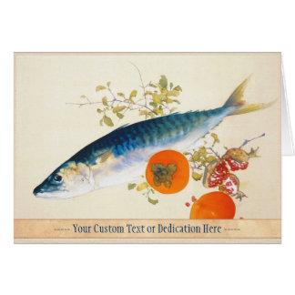 Takeuchi Seiho - l'automne engraisse des poissons Carte