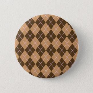 Talent à motifs de losanges badge rond 5 cm