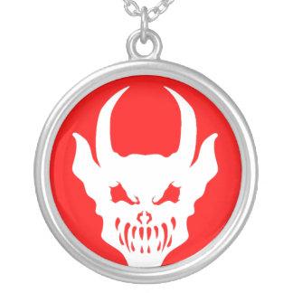 Talisman rouge de démon collier