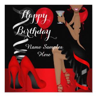 Talons hauts noirs rouges de chaussure de fête carton d'invitation  13,33 cm