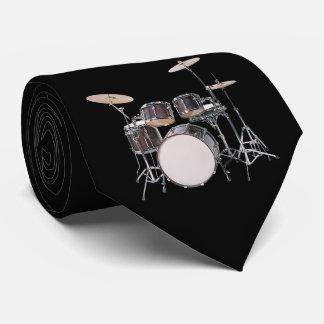 Tambour réglé avec la cravate de cymbales